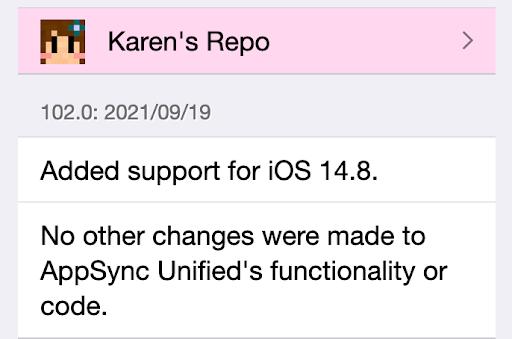 AppSync iOS 14.8